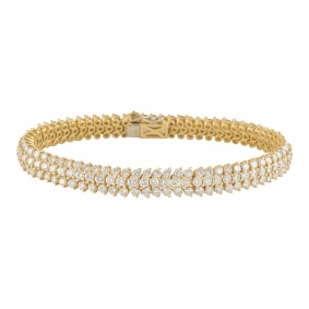 Yellow Gold Diamond Bracelet 10.20ct G+/VS+